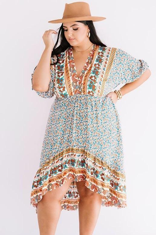 Макси лятна рокля в бохо стил