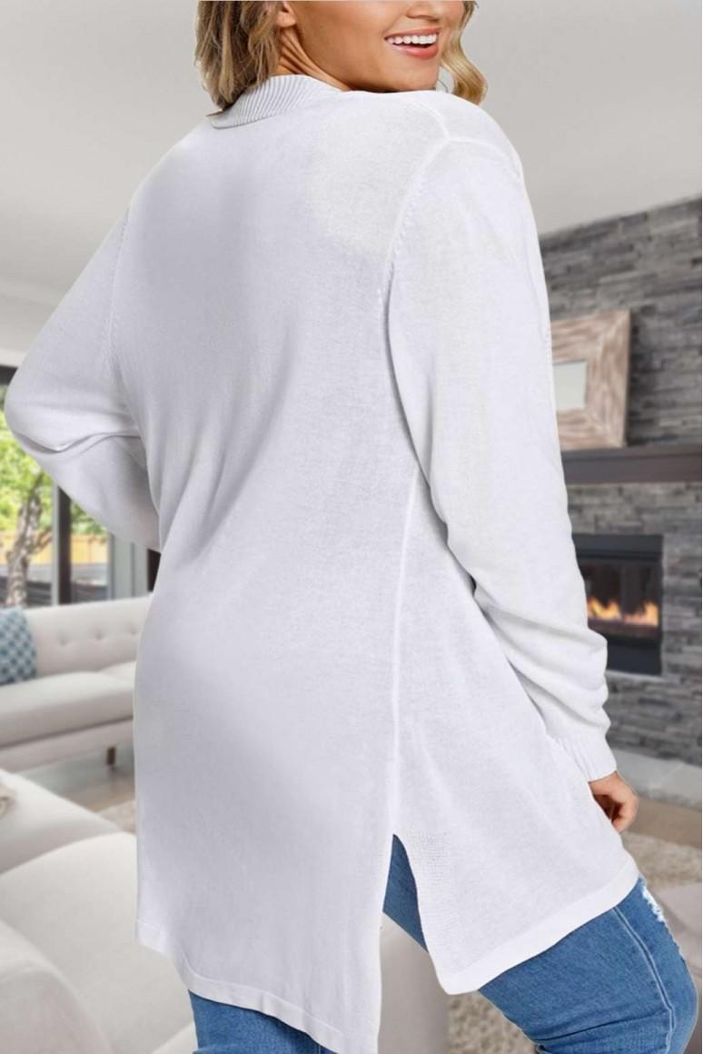 Финна дълга бяла жилетка