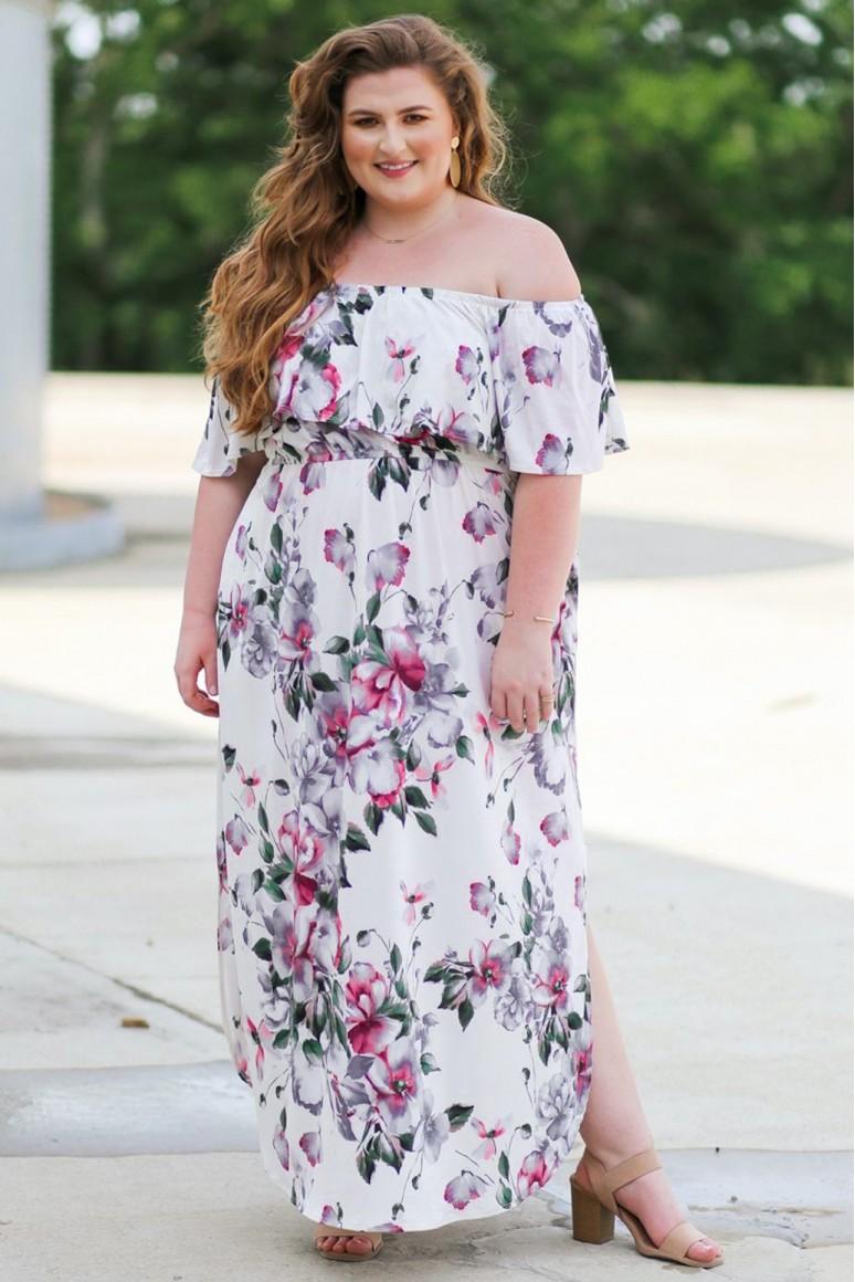 Дълга лятна макси рокля на цветя
