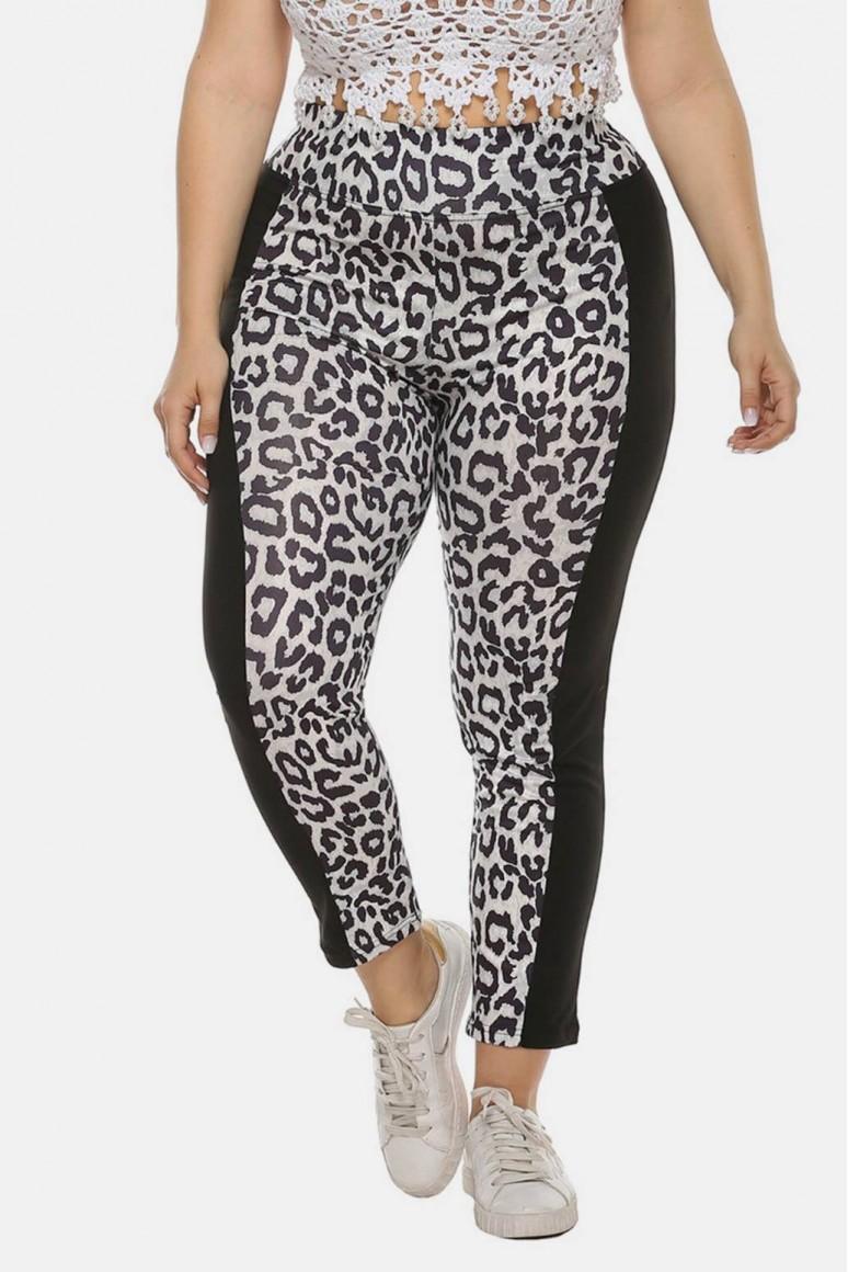 Макси клин черно-бял леопард