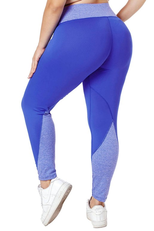 Sports leggings plus size in blue