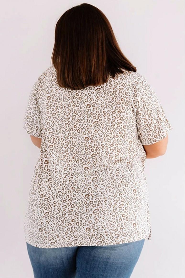 Лятна макси блуза светъл леопард