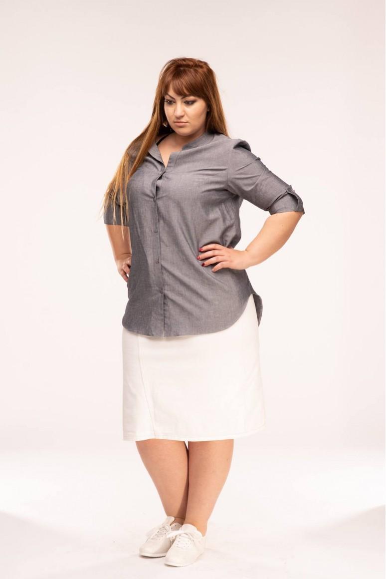 Дамска макси риза Робин в сиво