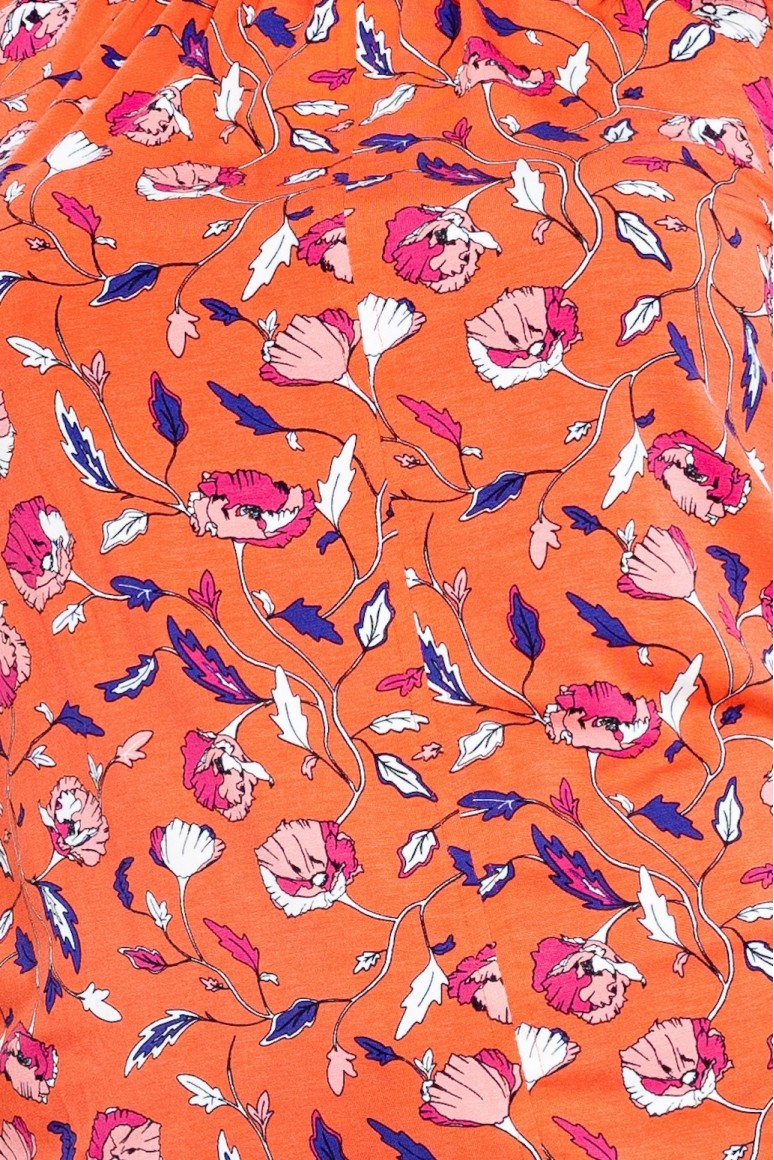Макси блуза корал на цветя