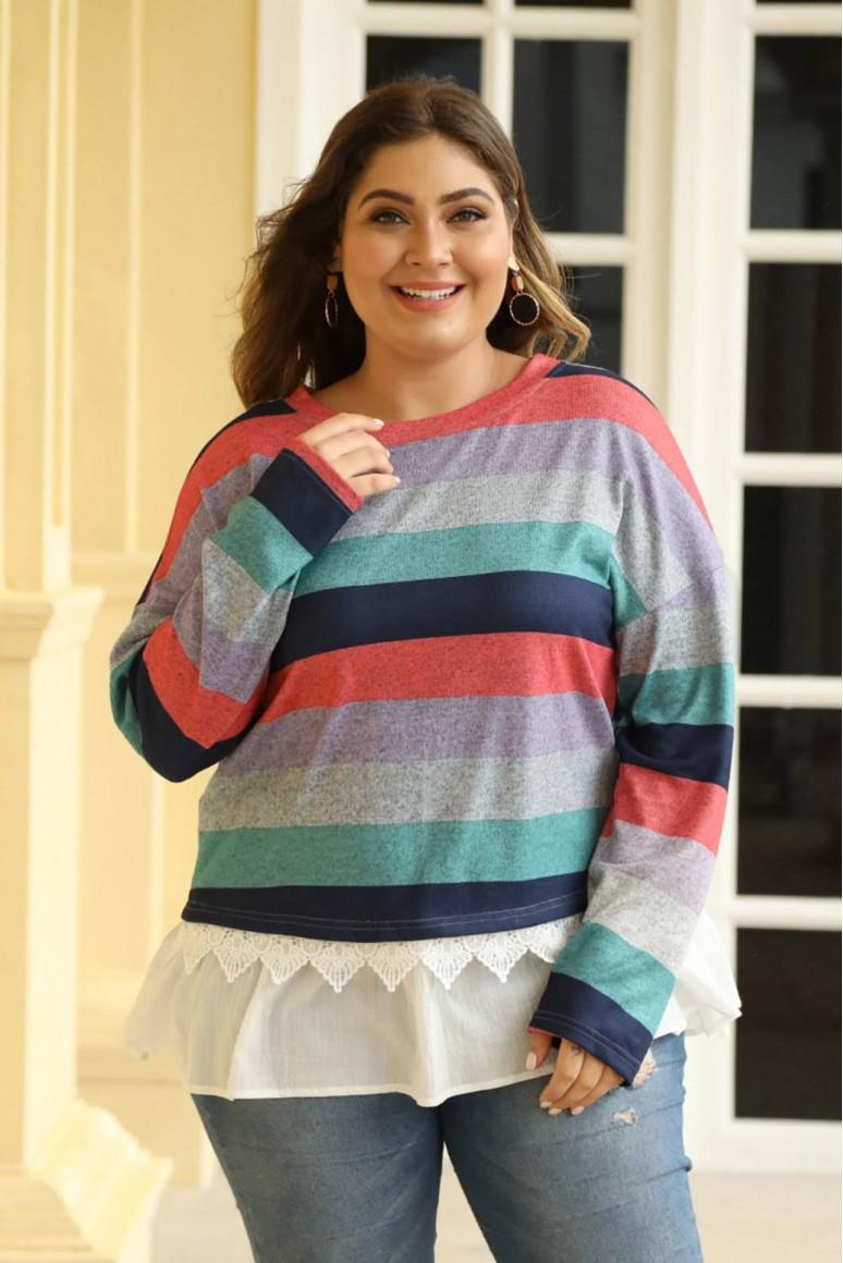 Макси блуза с ефект подаваща се риза