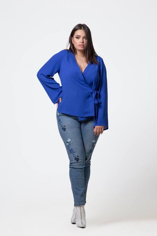 Макси риза турско-синьо кимоно