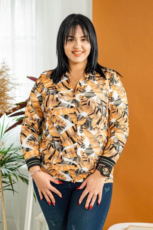 Оранжева риза с флорален мотив