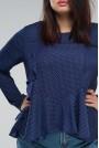 Синя макси блуза на точки
