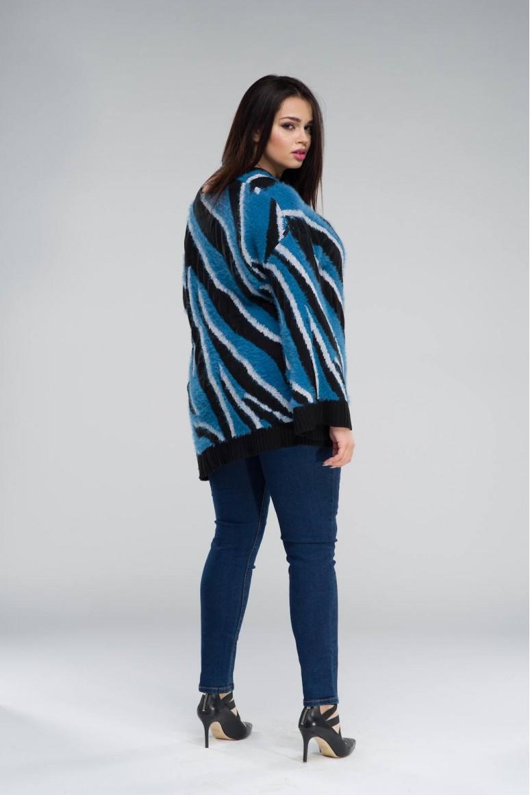 Туника синя зебра