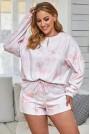 Комплект в бяло и розово
