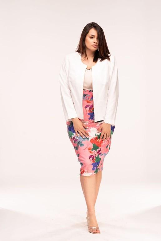 Розова макси пола с флорален десен