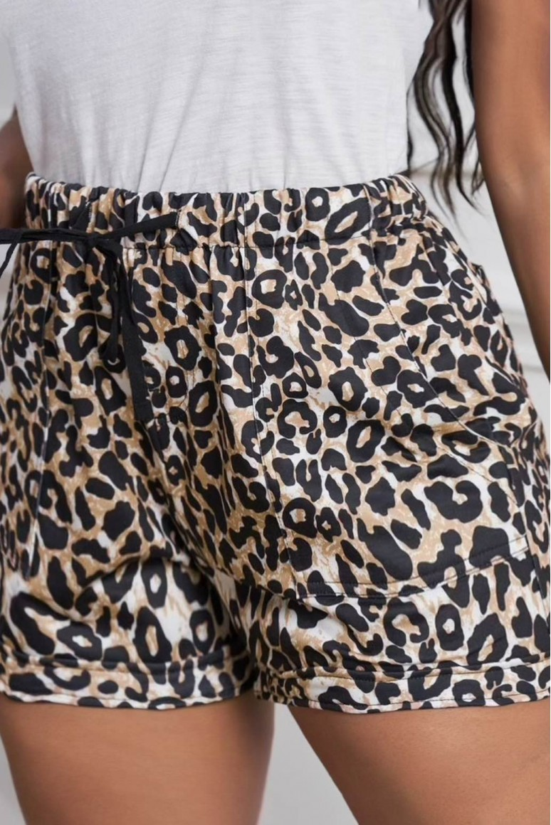 Макси къси панталонки леопард