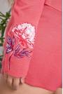 Къси дамски панталонки с флорална бродерия