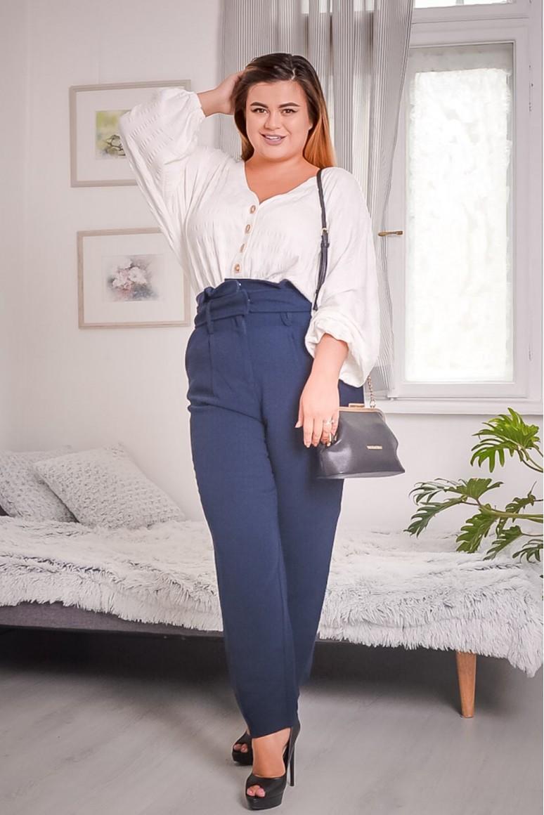 Панталон с колан и висока талия