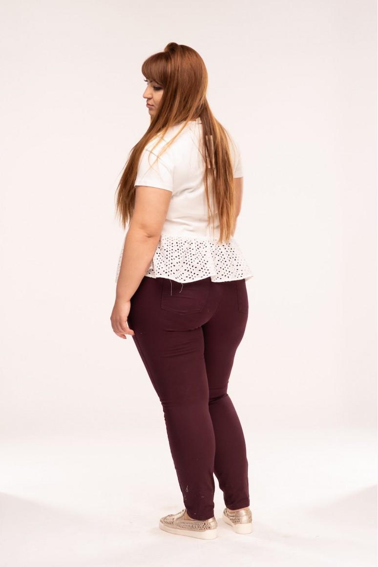 Тънък макси панталон с копчета