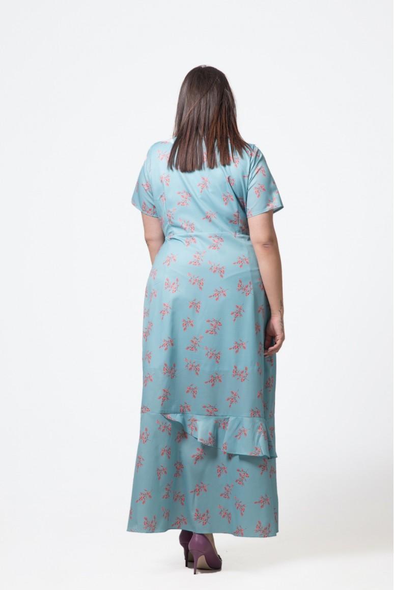 """Дълга макси рокля """"Прегърни ме"""" с флорален десен"""