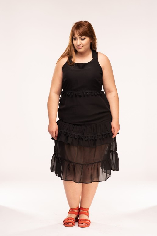 Ефирна макси рокля с презрамки