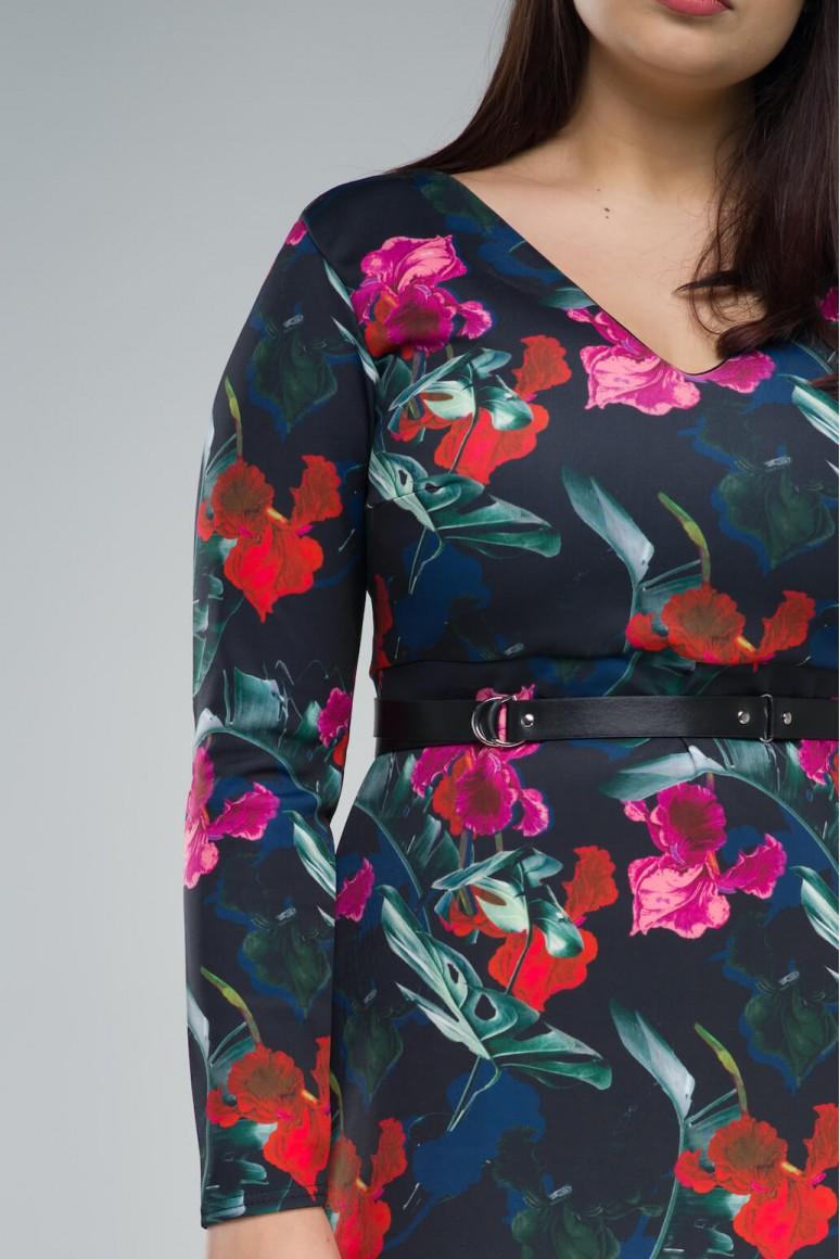 Макси рокля с флорален десен