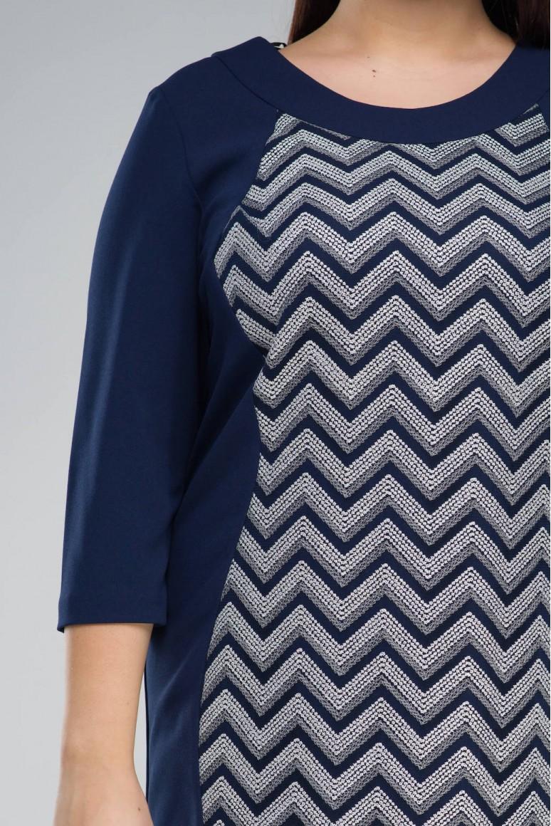 Макси рокля София с геометрична бродерия