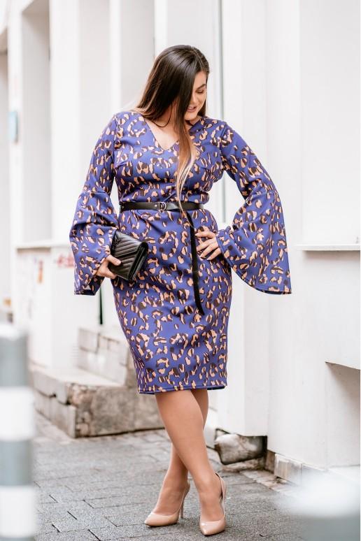 Макси рокля лилав леопард