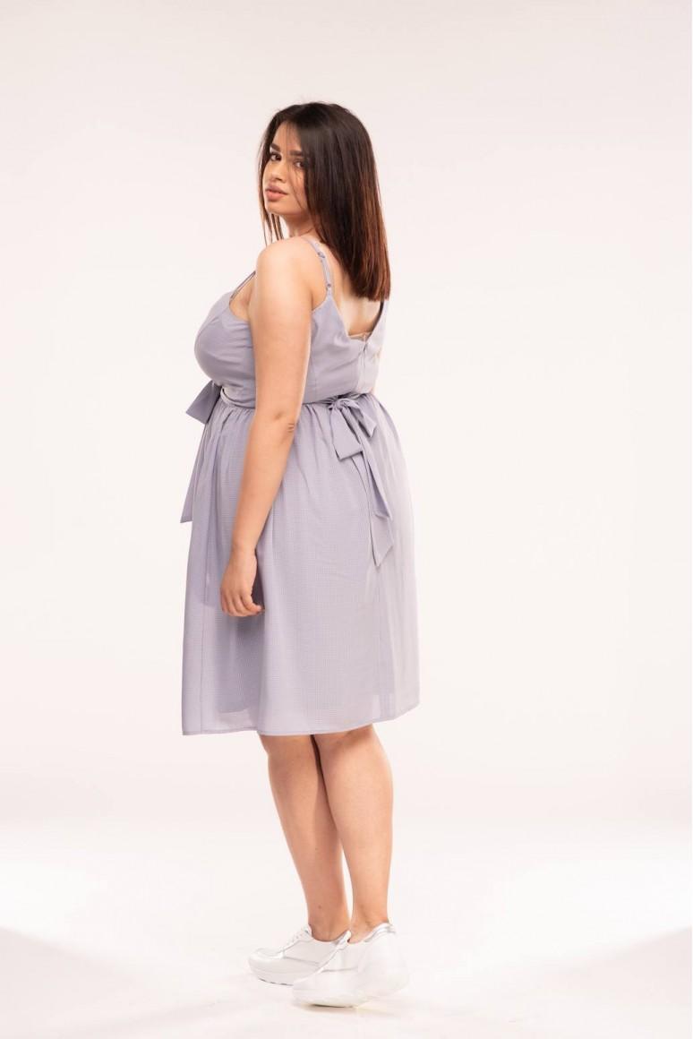 Лятна макси рокля с тънки презрамки