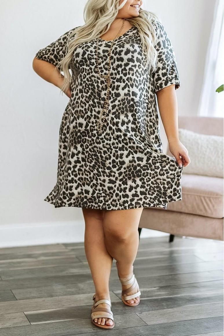 Ежедневна лятна макси рокля в леопард