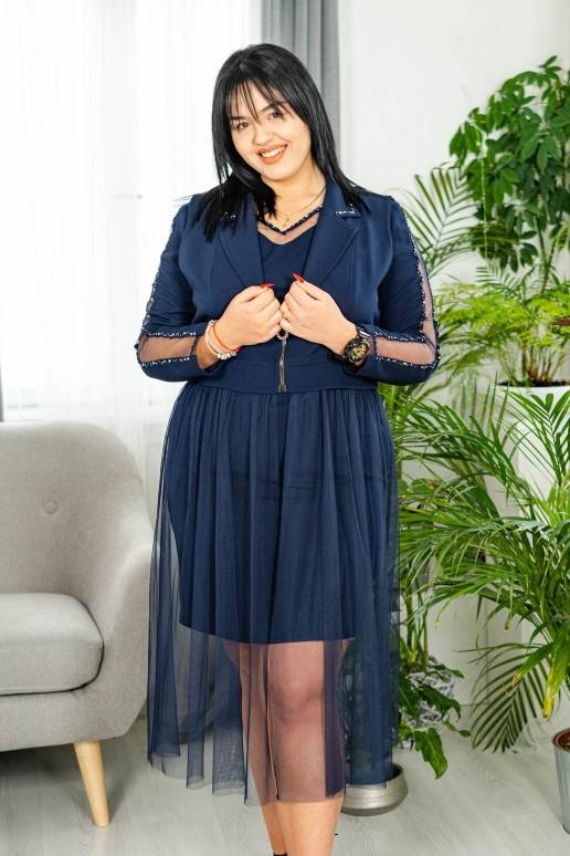 Комплект рокля и елек с тюл