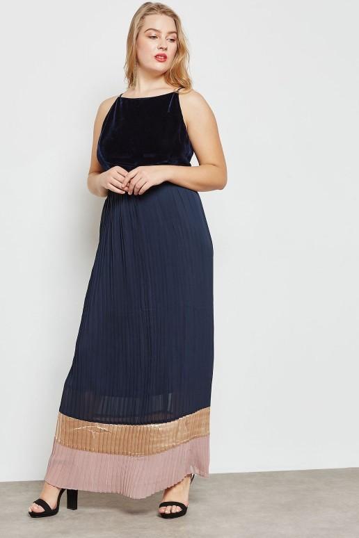 Дълга макси рокля солей