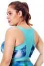 Спортен макси сутиен светло синьо с принт
