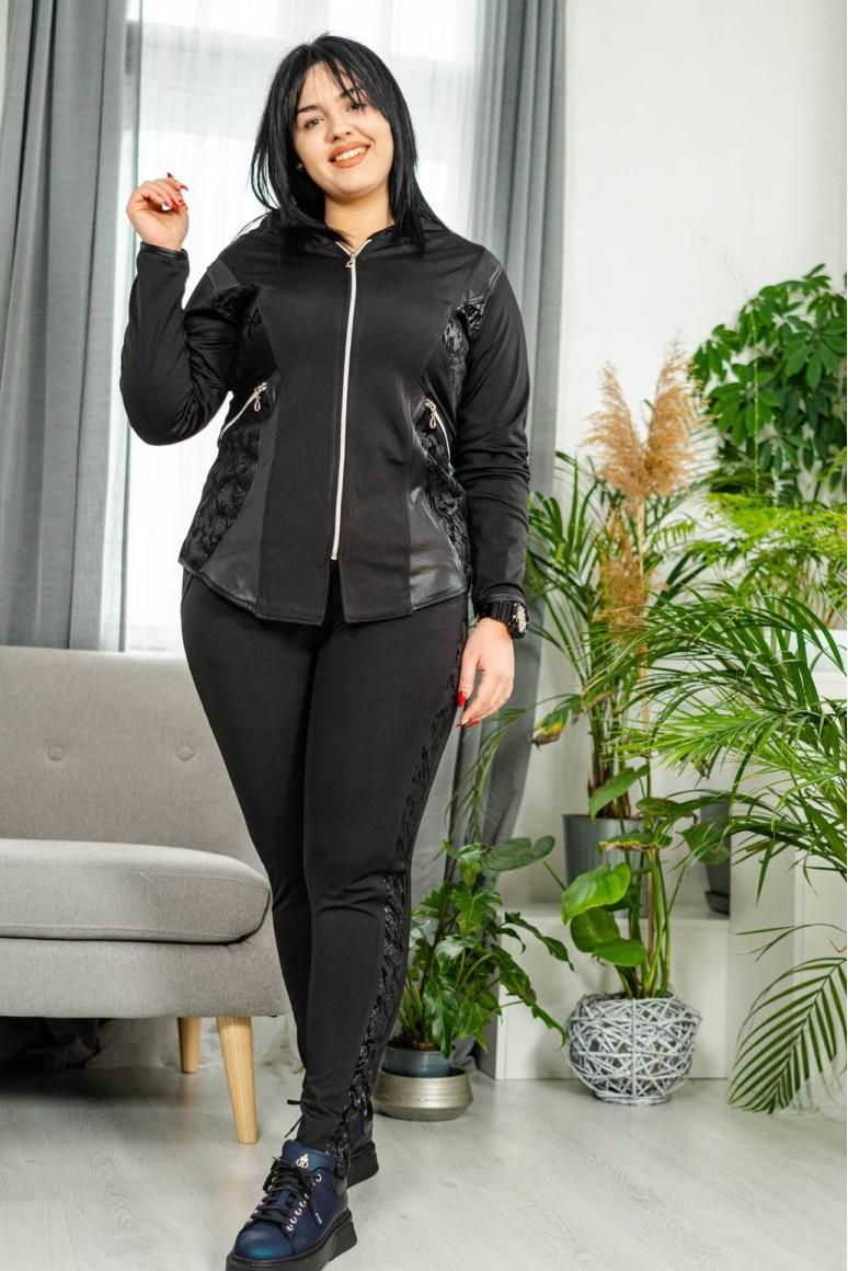 Черен спортен макси комплект анцунг