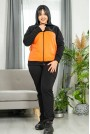 Макси спортен комплект черно и оранжево