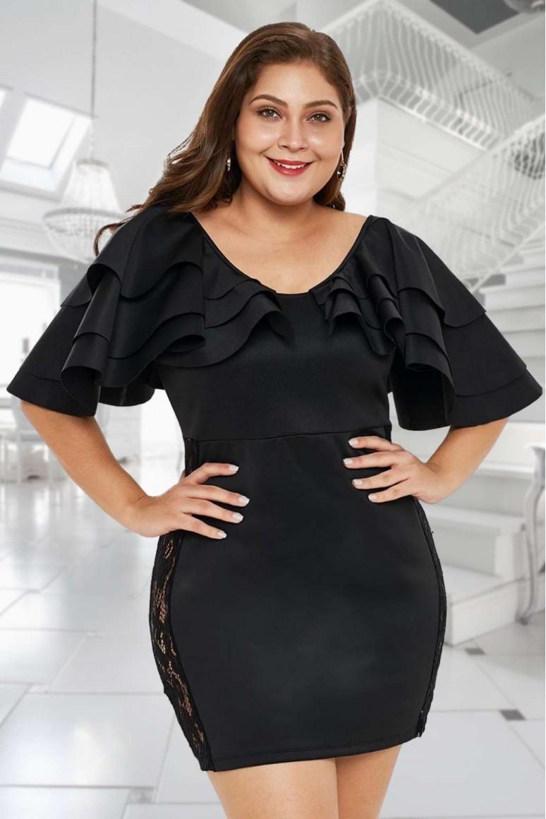 Малка черна макси рокля